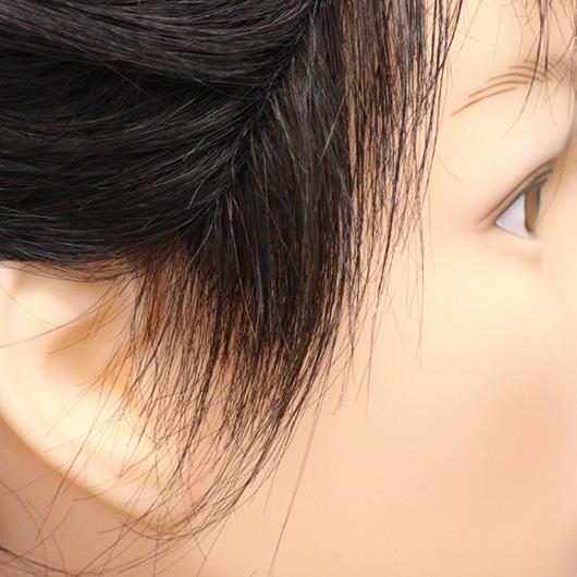 BEAUTY FITのもみあげは髪型に合わせた長さで作るので、浮いて見えることがなく自然な見た目になります。