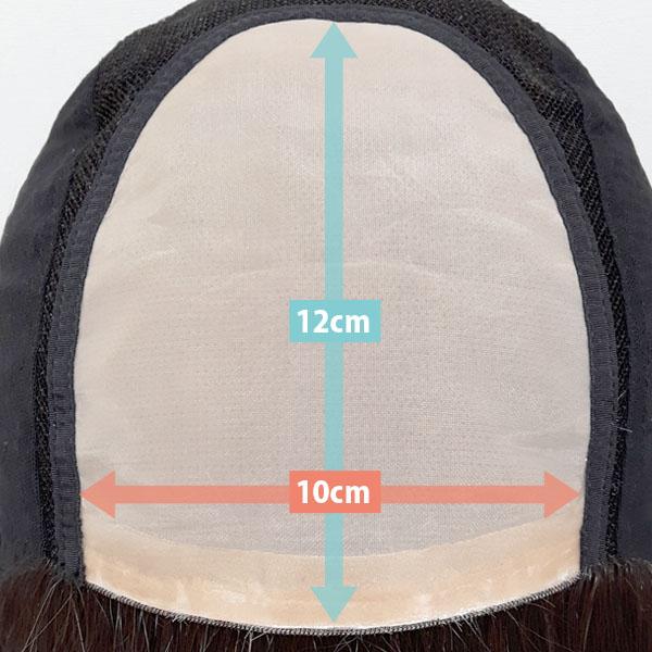 BEAUTY FITのフロントネットは全グレード、幅約10cm・奥行き約12cmもあり、分け目もあり自然な動きをしてくれます。
