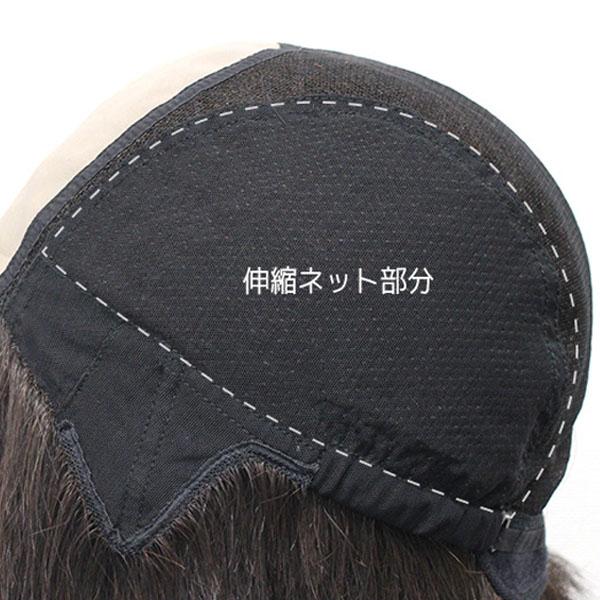 ハイグレードとプレミアムはサイドに伸縮性のあるネットを使用し、頭部の締め付けがなく優しい着用感です。