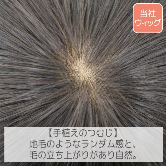BEAUTY FITは全グレード、フロント部分は手植えなので、毛髪の立ち上がりも良く自然な見た目です。