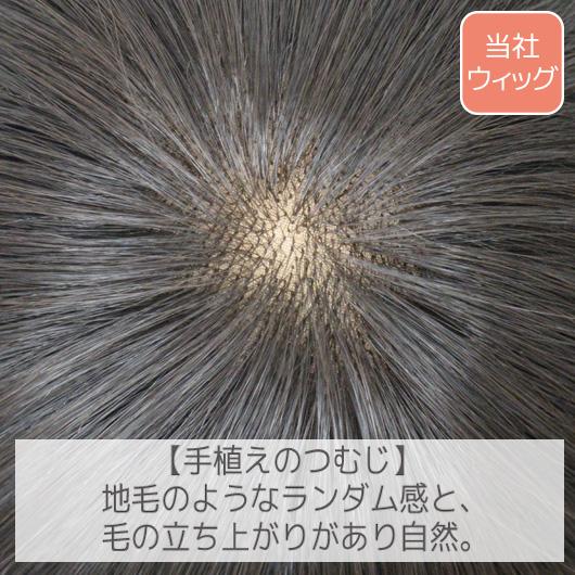 ライトグレードでも前頭部は手植えなのでつむじ部分が自然です。