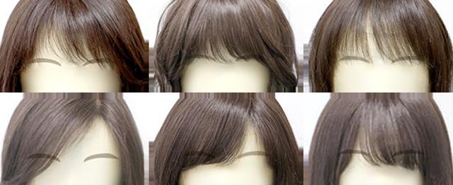 BEAUTY FITでオーダーをいただいた色々な前髪の画像