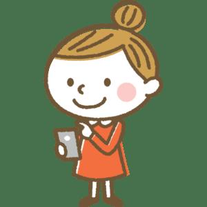 スマートフォンを操作する女の子のイラスト
